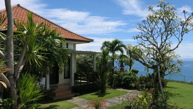 A+Bali+bungalow+set+on+the+cliffs+above+Padang+Padang+beach;+from+$85+per+night.   - HouseBeautiful.com