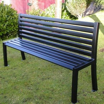 anti vandal steel seat manufactured from steel and then hot dipped galvanised robust