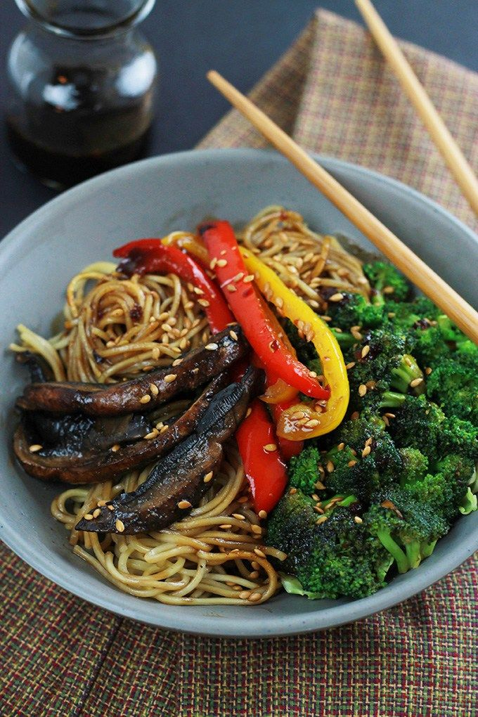 spicy ramen mushroom stir fry portobello peppers hearty portobello ...