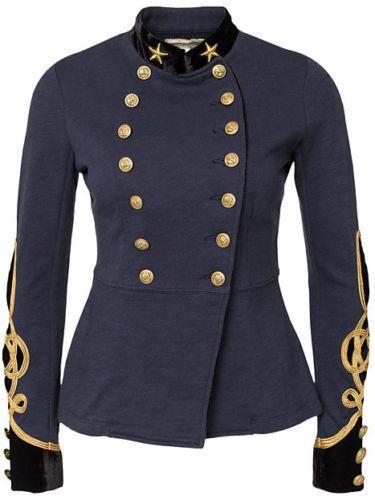 39d2ff317e6e Ralph-Lauren-Denim-amp-Supply -Women-Military-US-Army-Officer-Band-Jacket-Gold-Star