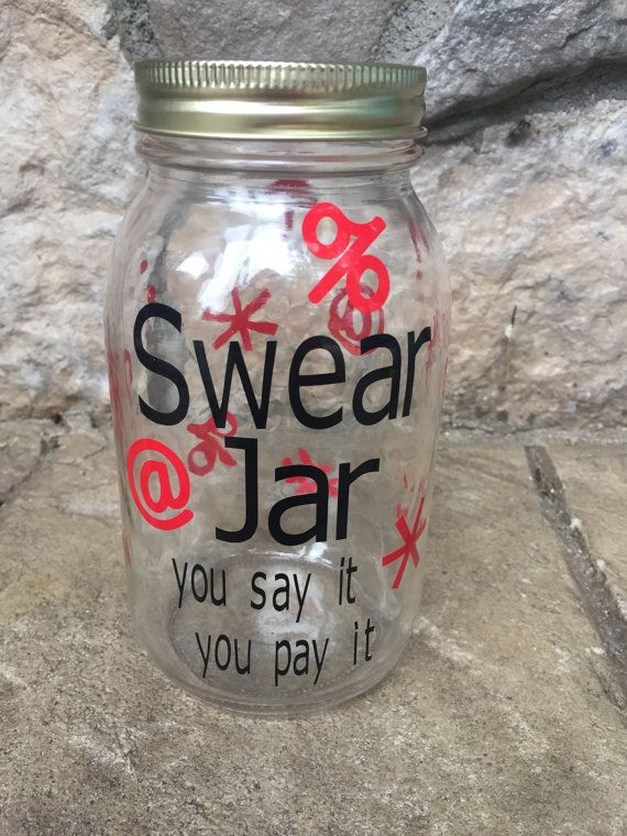 Swear Jar Bad Word Money jar Cursing Cash Fund by CraftyKnee