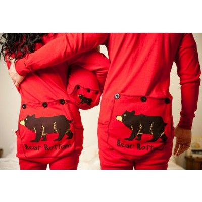 Yeah ~ I totally bought these for my whole family this Christmas! ~ what a nerd! Lazy One Bear Bottom Flapjacks Family Matching Long John