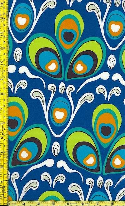 Alexander Henry peacock fabric