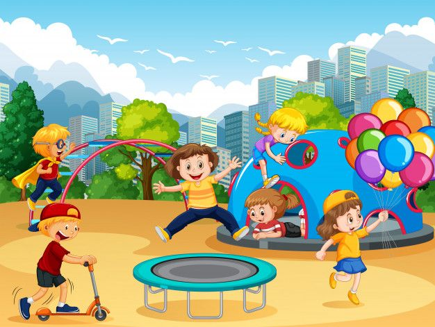 Children At The Playground Christmas Toy Background Kids Doodles Happy Children S Day