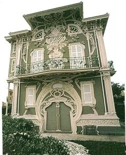 Villa Ruggieri, Pesaro, Italy, 1902-7 ~ by Italian architect Giuseppe Brega, in Art Nouveau style (1st of two pins)