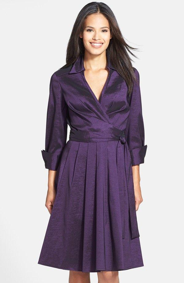Taffeta Wrap Dress. Soooo pretty!   Nordstrom