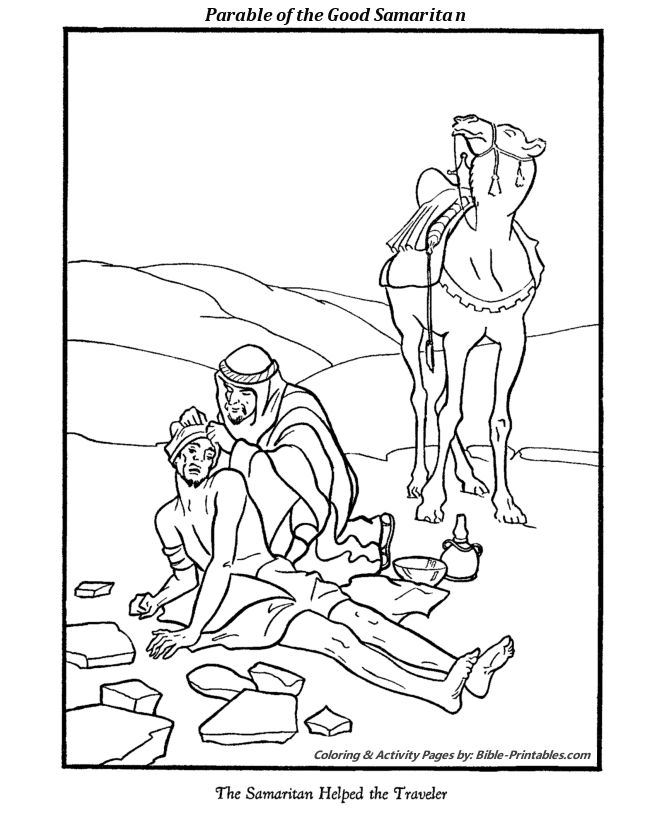 The Parable of The Good Samaritan Coloring Pages 2 ...