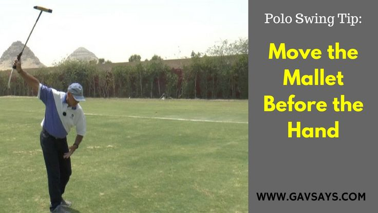 GavSays.com: Polo Swing Tip - Learn why you must move your polo mallet before your hand...