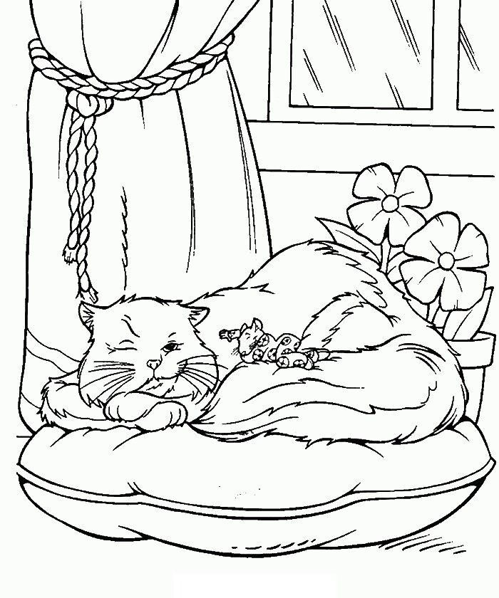 Pictures Stuart Little The Mouse With Friend Cat Coloring Pages