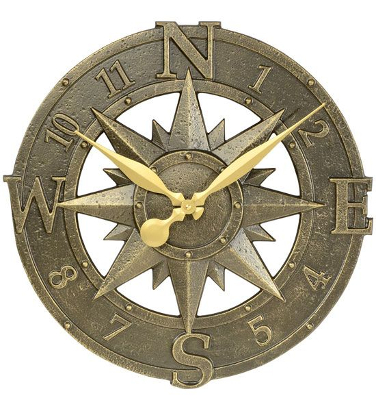 Outdoor Clock - Compass Rose in Thermometers & Outdoor Clocks