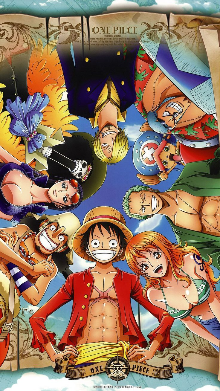 "Anime ""One Piece"" (gang of straw) - iPhone6 wallpaper 