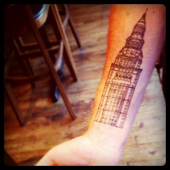 17 best images about tattoo on pinterest cleveland for Cleveland skyline tattoo