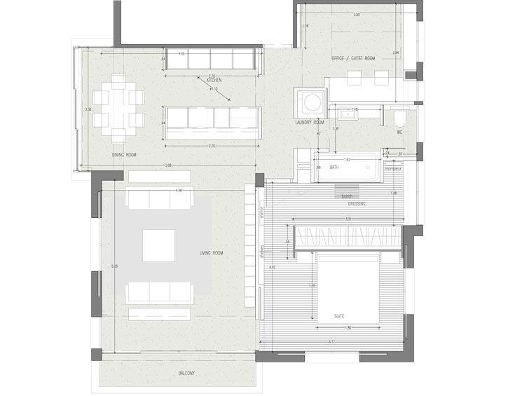 133 besten plans bilder auf pinterest grundrisse wohnen for Minimalistisches haus grundriss