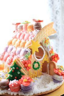 ヘクセンハウス(ドイツ語:Hexenhaus)レープクーヘンハウス(Lebkuchenhaus) 「お菓子の家」Christmas cookie house