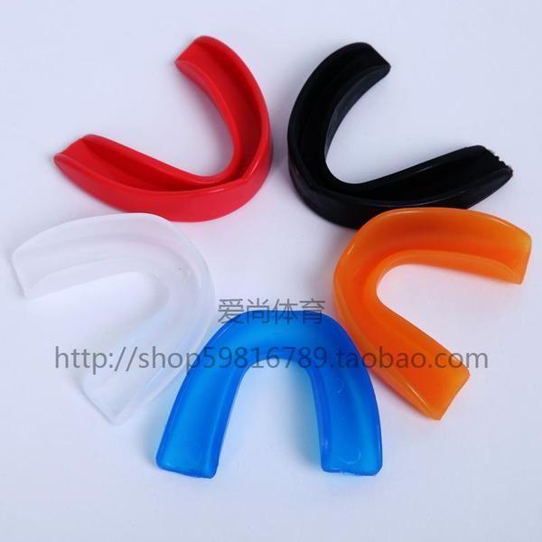 拳擊護齒籃球護齒套護牙套 散打 搏擊MMA矽膠單面護齒正品送盒