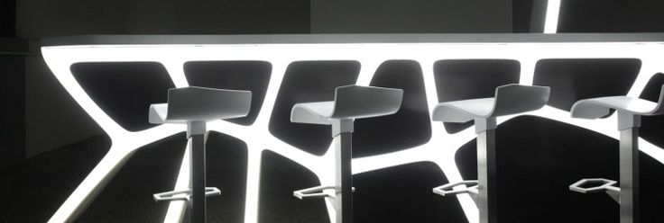 Superficie tridimensionale in materiale composito HI-MACS® by HI-MACS® by LG Hausys Europe
