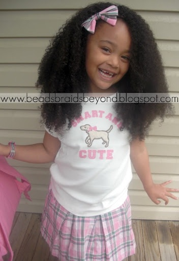 Adorably cute and natural hair.