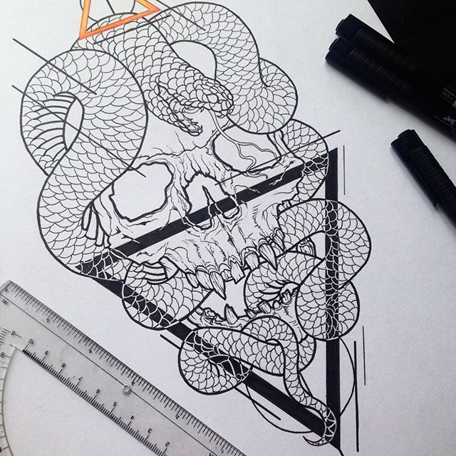 Geometric Snake Tattoo Design: 53 Best Tattoo Designs & Drawings Images On Pinterest