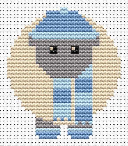 Sew Simple Winter Sheep cross stitch kit