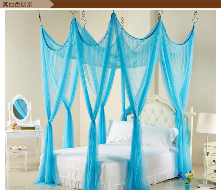 Pink Purple Green Princess Triple Bed Canopy Mosquito Net