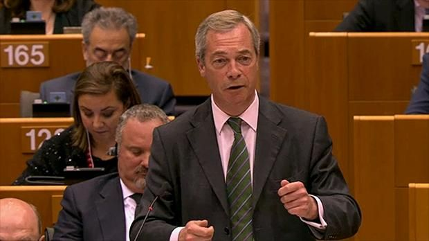 "#Farage jeered and booed as he tells #European #Parliament it is ""in denial""..."