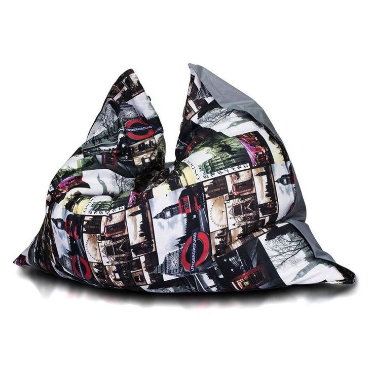 Turbo Beanbags Pillow Style Premium Large Bean Bag Chair - City Print - PLP.T.031300.01