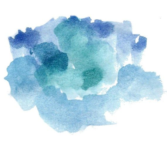 Watercolor Clipart Blue Splash Texture Navy Splash Brush Strokes