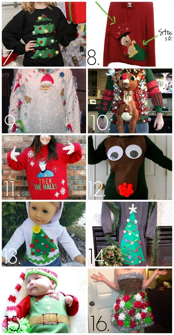Check out these wonderfully tacky Christmas sweaters! For more Christmas sweaters and party ideas visit My Ugly Christmas Sweater at www.MyUglyChristmasSweater.com!