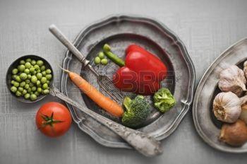 food: Rohes Gemüse Jahrgang Hintergrund Nähe schießen