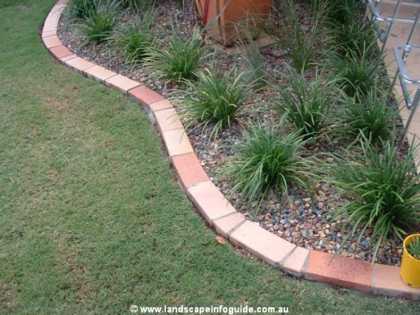 how to do brick edging Clay Paver Brick Edge Garden