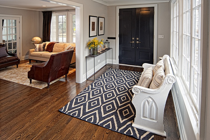 Foyer With A Church Pew Church Pew Redo Pinterest Carpets Church And Foyers