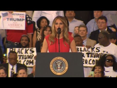 Melania Trump Speech at President Donald Trump Rally in Melbourne, Flori... Our Most Gracious and Beautiful First Lady Melania Trump