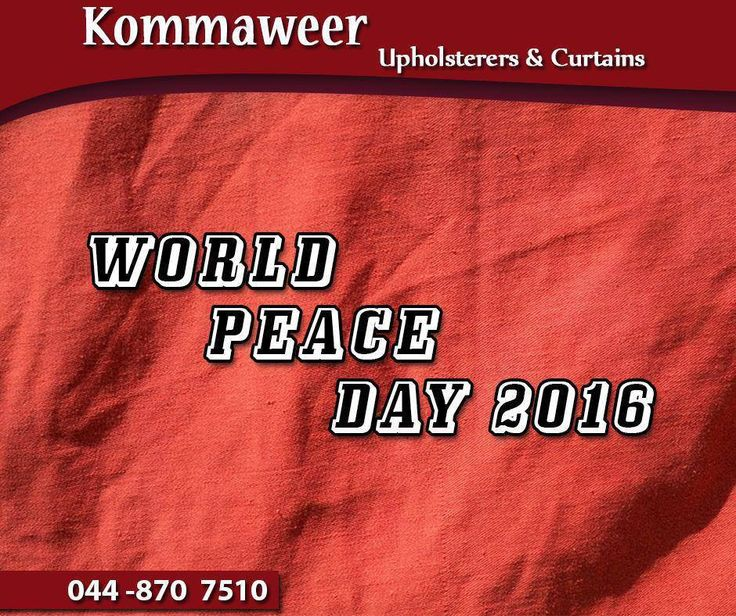 Happy #WorldPeaceDay. Today encourages us to be kind to others and teach others to be peaceful. #Kommaweer