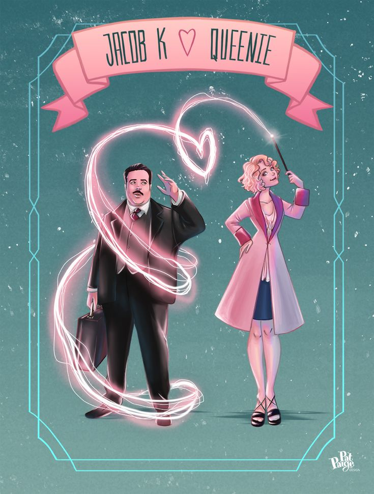 Jakweenie: Jacob and Queenie fanart (Fantastic Beasts) by PatPaige :) >>> Jeenie?