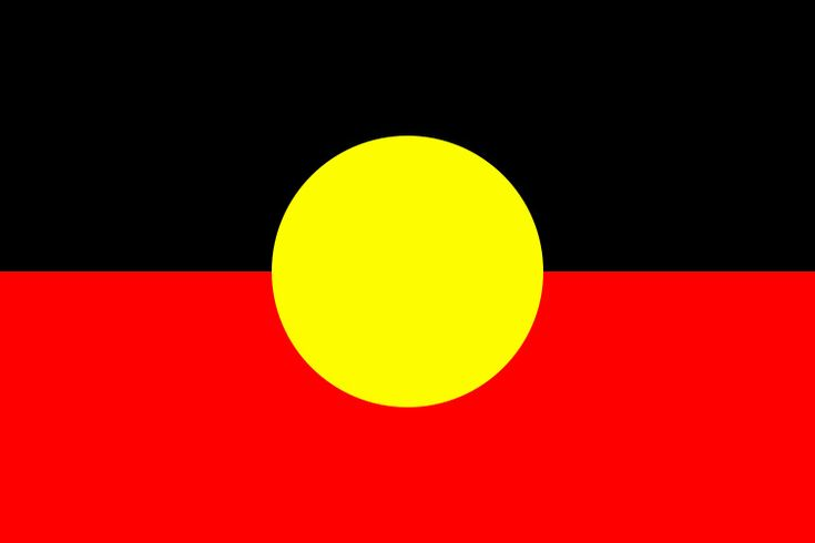 Australian Aboriginal Flag - The meanings of the three colours in the flag, as stated by Harold Thomas, are:  Black – represents the Aboriginal people of Australia  Yellow disk – represents the Sun, the giver of life and protector  Red – represents the red earth, the red ochre used in ceremonies and Aboriginal peoples' spiritual relation to the land