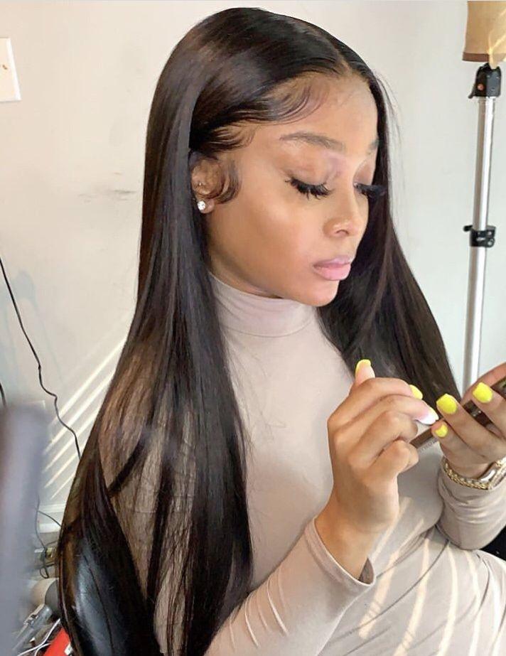 Jaydaaaa In 2020 Straight Hairstyles Straight Weave Hairstyles Long Hair Styles