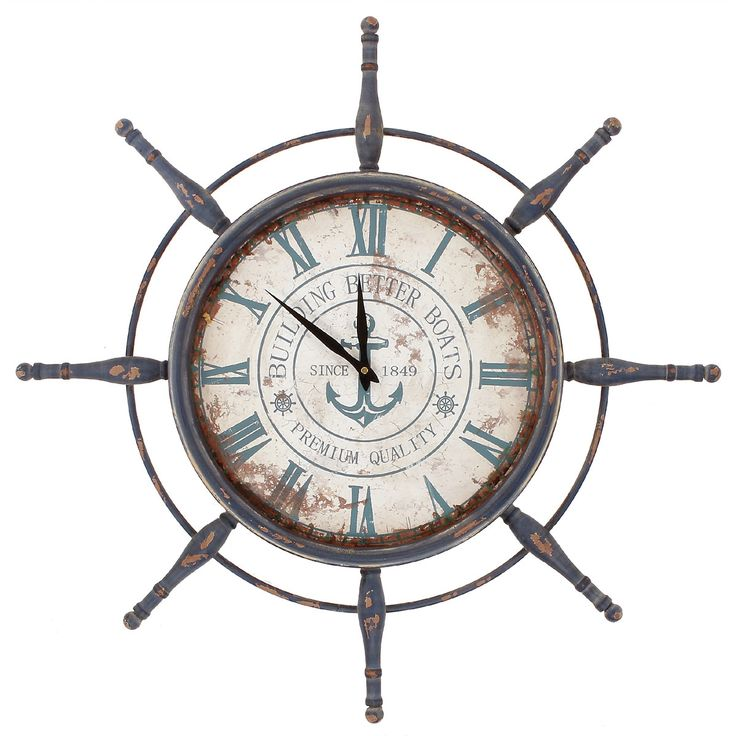 Features:  -Material: Metal.  -Made in the USA.  Country of Manufacture: -United States.  Product Type: -Analog.  Finish: -Multi-colored.  Shape: -Round.  Style: -Coastal.  Theme: -Nautical.  Primary
