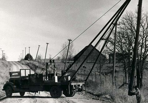 Rural Electrification reaches Kansas, April 1, 1938