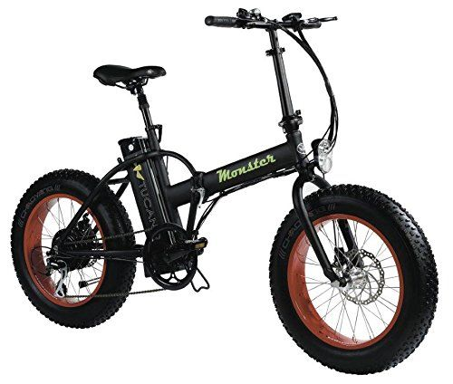 MONSTER 20 – The Folding Electric Bike – Wheel 20″ – Motor 500W, 48V-12ah – LCD on-board computer with 3 help levels – Chassis: Aluminium (BLACK)