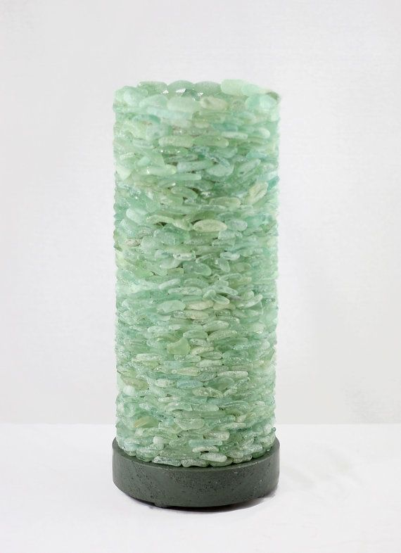 Sea Glass Column Floor Lamp and Lakeland by SaraLeGrisCreations