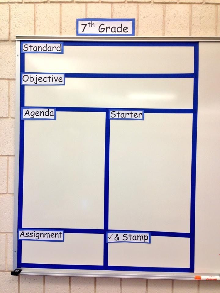 Classroom Whiteboard Decoration ~ Divided whiteboard for organization classroom ideas and