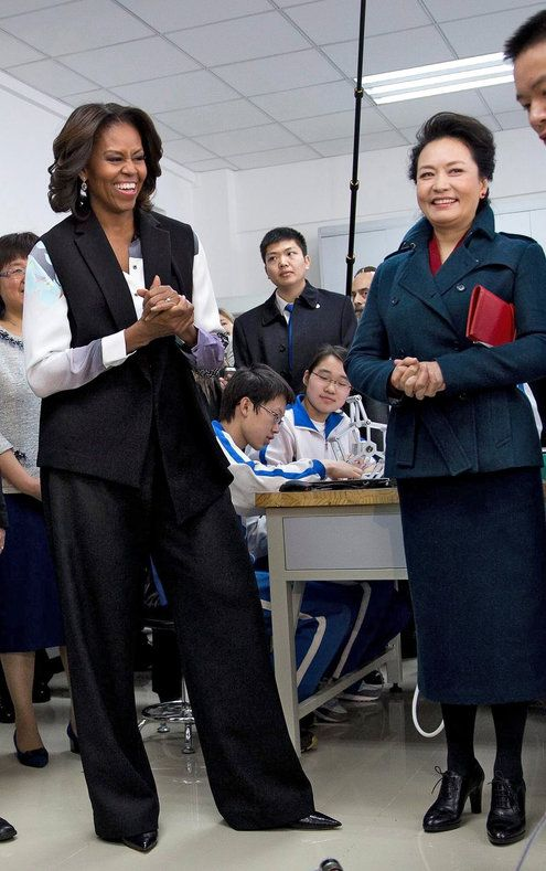 Those pants! Michelle Obama and Peng Liyuan Show Their Distinctive Fashion Flair
