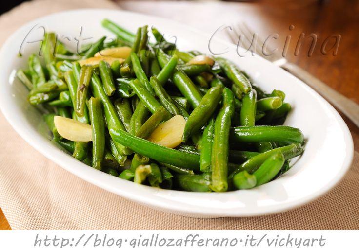 Fagiolini alla francese ricetta veloce, contorno semplice, saporito, ricetta leggera facile, fagiolini surgelati, idea contorno leggero, light, piatto per la dieta