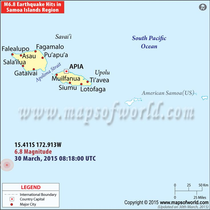 Magnitude 6 8 Earthquake Hits Samoaislands Region Here S The Location Map Of The