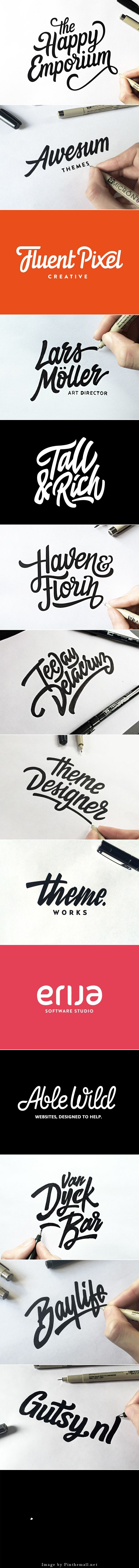 I love this. Doing a logo with hand lettering takes a lot of time. I give props to him for doing this, it looks amazing and clean. This is pretty inspirational for me considering I have a talent for drawing. | Lettering & Logotype Vol.2 by Paul von Excite