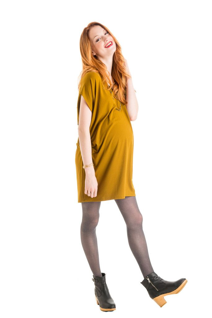 V-NECK DRESS WITH LEATHER TRIM by Fourth (Love)