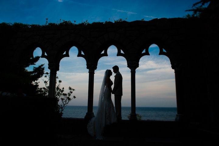 Hammond Castle Massachusetts United States wedding venue | Marina + Dan Married | Hammond Castle Wedding ...