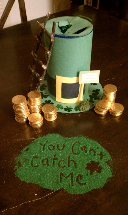 Leprechaun Trap. This would be fun to do with the kids!