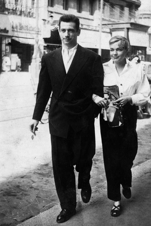 Yves Montand et Simone Signoret