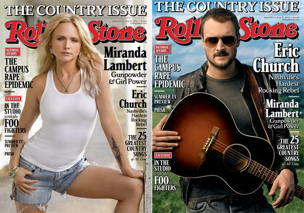 Eric Church and Miranda Lambert: Inside Rolling Stone's Country Issue Country's outsider and platinum pistol star on the cover as RollingStoneCountry.com launches online   Read more: http://www.rollingstone.com/music/news/eric-church-and-miranda-lambert-inside-rolling-stones-country-issue-20140603#ixzz33aahYQqE  Follow us: @Rolling Stone on Twitter | RollingStone on Facebook